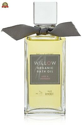 Willow Organic Beauty Bath Oil in Bow Box, Lime Lavender 100 ml