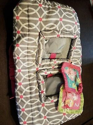 Boppy Pink/Gray/White Shopping Cart Cover - Baby/Infant Girl - EUC!