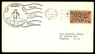 Mayfairstamps USS GLACIER AGB 4  USN LITTLE AMERICA ANTARCTICA MAY 1 1956 DEEP F