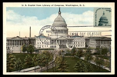 Mayfairstamps RIGHT TO ASSEMBLE US CAPITOL WASHINGTON DC BY BS REYNOLDS CO MAXIM