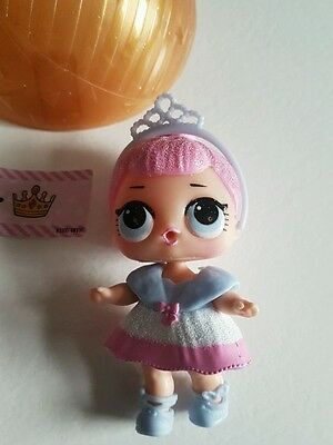 LOL surprise doll Crystal Queen. RARE lil outragous littles gold ball