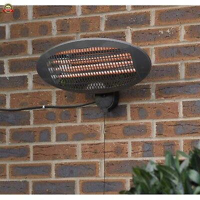 Kingfisher HEAT1300 Limitless Electric Wall Mounted Patio Heater, Multi-Colour,