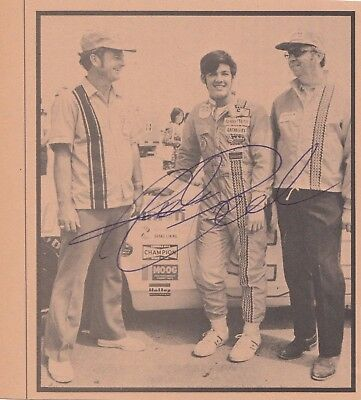 NASCAR Richie Panch Autographed newspaper clipping