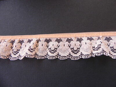 Card of New Gathered Lace - Peach A