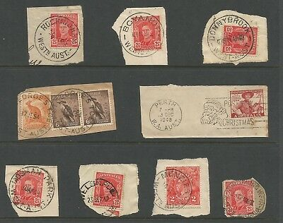 A5/a14f  AUSTRALIA,  STATES COLLECTION of  WEST AUSTRALIAN POSTMARKS AS SCAN
