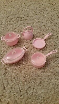 Barbie Doll House Misc Accessories plus Kitchen Cookware Pots and Pans