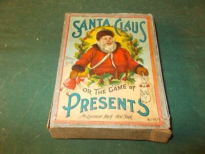 1890S Mcloughlin Brothers Card Game Santa Claus Or The Game Of Presents Complete
