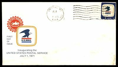 Mayfairstamps BRONX NY JUL 1 1971 US POSTAL SERVICE INAUGURATION CACHET ON SEALE