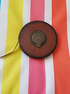 Vintage 66ft tape measure, leather case,made in West Germany