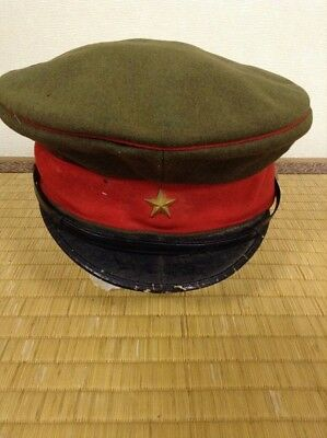 AUTH Imperial Japanese army WW2  officer yongo uniform cap  military