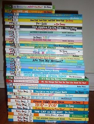 Lot of ( 40 ) Dr. Seuss Books - Beginner + Bright & Early Dr Suess