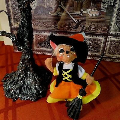 """Annalee 6"""" Candy Corn Witch Mouse - #301012 - Nwt- 2012 - So Cute!"""