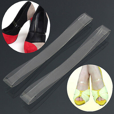 Clear Transparent Invisible High Heel Shoe Straps For Holding Loose shoes H&T
