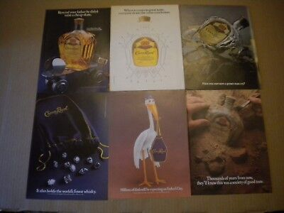 34 Crown Royal Ads Lot