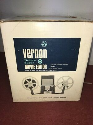 Vernon 808 Dual 8 movie editor with splicer, in box & instructions