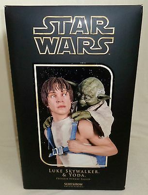Sideshow LUKE SKYWALKER & YODA Dagobah Training Premium Format Ltd 177/1150 NEW