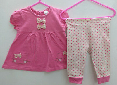 100% NEXT baby girl cat outfits bundle age 6-9 months top leggings set