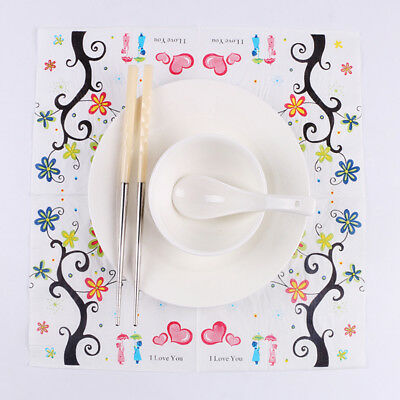 Love Series 20 Pcs Of Each Pack Party Paper Napkin 33X33CM 2 Ply Pattern 4