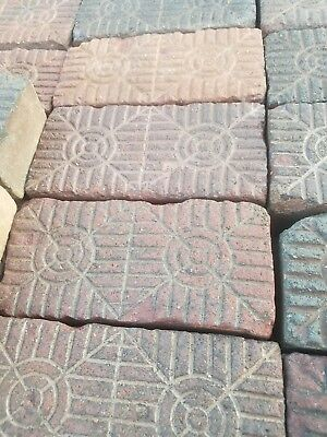 Nelsonville Brick Sidewalk Paver Antique Brick. Vintage Reclaimed Ohio Geometric