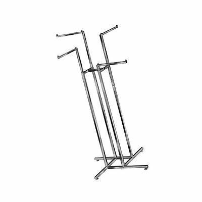 Clothing Rack  Heavy Duty Chrome 4 Way Rack Adjustable Height Arms Square Tub...
