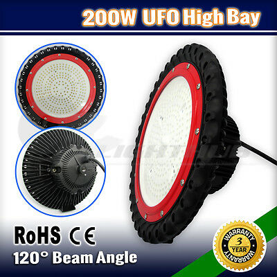 LED 200W High Low Bay Light Lighting Warehouse Industrial Factory Commercial