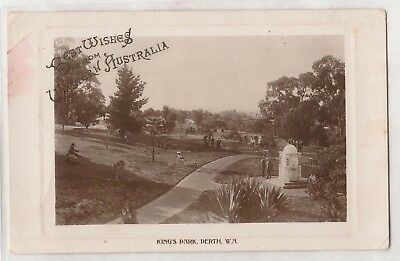 Vintage Postcard Kings Park, Perth W.a