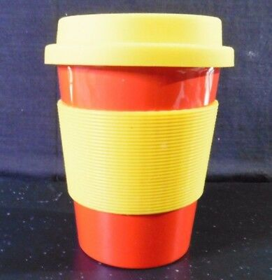 2 x 550ml Reusable Eco Coffe Cups - PLA, Brand New - interchangeable colours