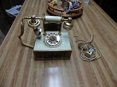 original VINTAGE 1970's VICTORIAN FRENCH STYLE ART DECO ROTARY TELEPHONE PHONE