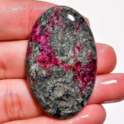 59.10Cts 100% Natural Nice Eudialyte Oval Cabochon Size 43X27X5 Gemstone L76