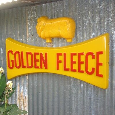 HUGE Golden Fleece Dog Bone Ram Sign  - Petrol Station Garage, Workshop oil SIGN