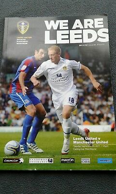leeds v manchester united 2011/12 carling cup