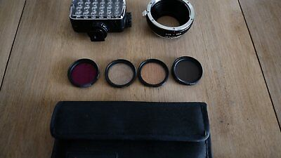 KIT torche Manfrotto 240 led + 4 filtres37mm + bague adaptation EOS/MICRO 4/3