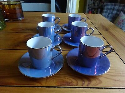 Vintage set of Espresso cups and saucers