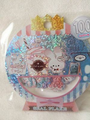 Kamio  Cafe de Moka  sticker pack  50 pcs NEW  flake seal