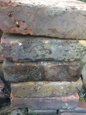 Salvaged Reclaimed Victorian Bricks-Removed From Chimney -Fantastic Patina!