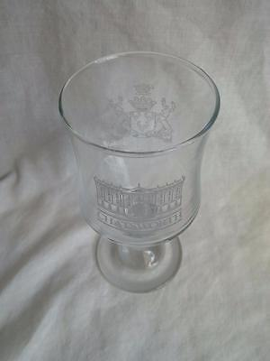 A Engraved Chatsworth House Wine Glass