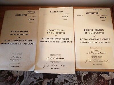 Pocket Folder of Aircraft Silhouettes - Restricted Royal Observer Corps
