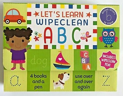Nursery / Reception Kids Lets Learn ABC Wipe clean Learning Pack Ages 3+