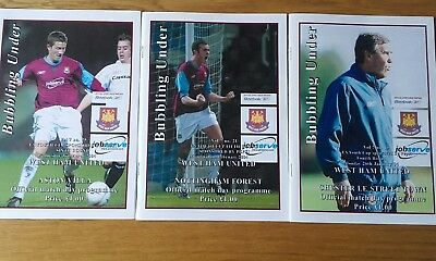 2003-04 West Ham United Fa Youth Cup Programmes.