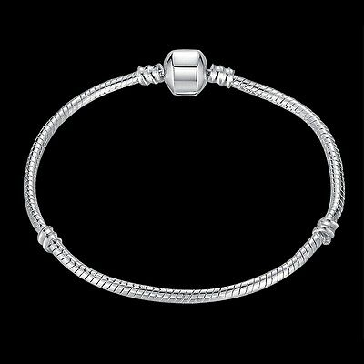New 925 Sterling  Silver Jewelry Snake Chain For European Charms Bracelet