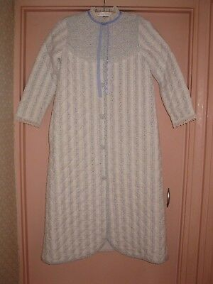 Vintage St. Michael Quilted Girls Dressing Gown - Age 11 (M & S)