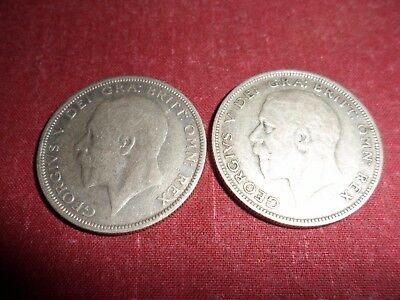 2 X George V Half Crowns 1932/33. Vg Low Start.
