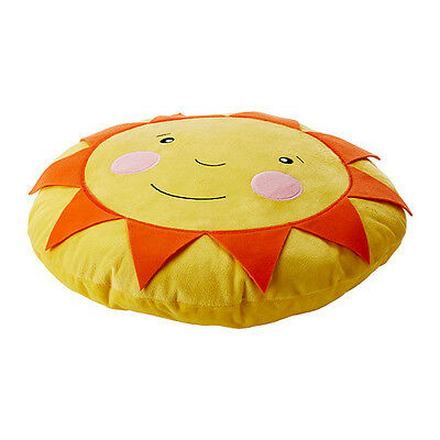SUN Smiley Face Yellow Kids Baby Cushion Nursery Decor Pillow IKEA Brand NEW