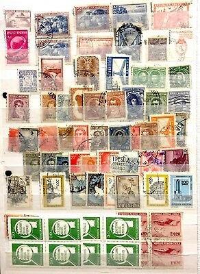 Collection South North America stamps album page