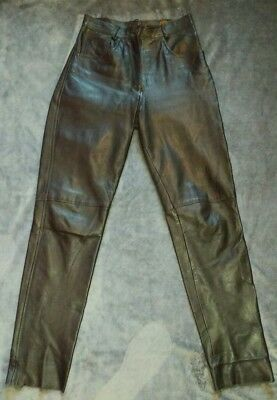 Genuine leather slim fit trousers size small Gapelle