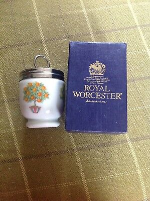 Royal Worcester Egg Coddler Fruit Trees Small Size Boxed