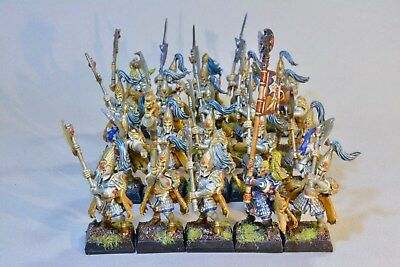 Warhammer Army High Elf Elves AOS Eldritch Council White Lions (x20) Painted
