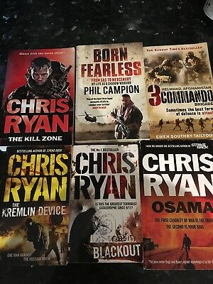 4 Chris Ryan Books, The Kill zone, Osama, Blackout, kremlin Device +two others