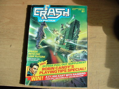 Crash  Magazine Zx Spectum No 27 Withn Supplement