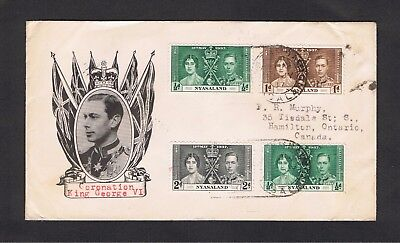 Nyasaland - 1937 George V1 Coronation - Illustrated Cover with  SG 127/9
